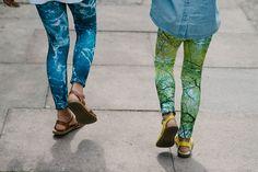 quirky collective #104 water print leggings: @laloiltd    bubble top:  @Indikidual   tree print leggings: @laloiltd   sandals:  saltwaters/@ sunsansandals © quirky collective
