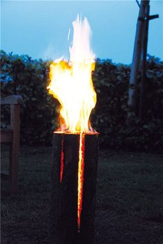 Swedish fire log - Perfect for warming up the garden in winter and eating marshmellows on a stick.