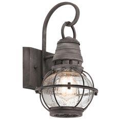 Kichler Lighting Bridge Point Collection 1-light Weathered Zinc Outdoor Wall Lantern