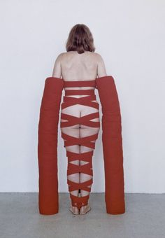 museumuesum:  Rebecca Horn  Arm Extensions, 1968  Fabric, wood and metal, dimensions variable