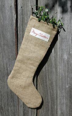 Burlap Christmas Stockings, I want to make some burlap stockings.