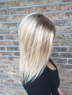 Highlighted blonde hair