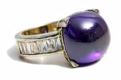 Ring Artisan Gold Sterling Silver Amethyst Zirconia Baguette cut Jewelers Gemstone Rings by Tezsahcom https://www.etsy.com/listing/285621549/ring-artisan-gold-sterling-silver?ref=rss