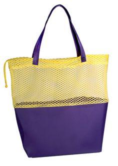 See Through Tote Bags With Company Logo Poly Micromesh 1 2 Web Handles Drawstring