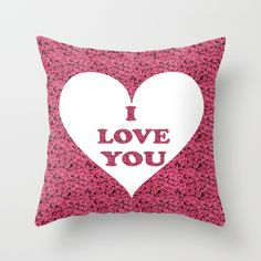 I Love You, My Love, Collections, Throw Pillows, Rose, Te Amo, Toss Pillows, Pink, Je T'aime