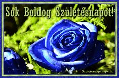 Kék rózsa, születésnapi képeslap nőknek