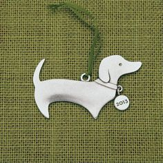Dachshund Ornament by beehivekitchenware on Etsy, $20.00