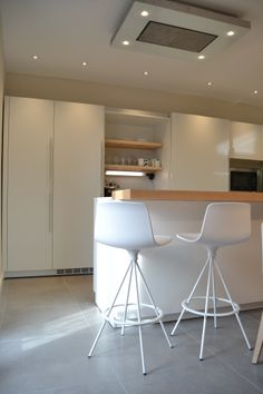 SANTOS kitchen | White seff Ariane model in Tolosa, project by Santos Tolosa http://www.santostolosa.es/es/