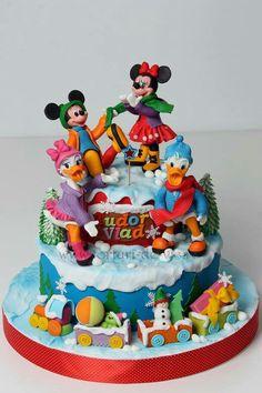 Mickey, Minnie, Donald, and Daisy
