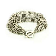 Tiffany & Co. Elsa Peretti Sevillana Mesh Toggle Bracelet in Sterling Silver #TiffanyCo #Chain