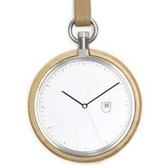 MMT Calendar (maple/silver) watch by MMT. Available at Dezeen Watch Store: www.dezeenwatchstore.com