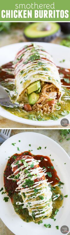 smothered chicken burritos - a must-try for any die-hard lover of mexican food!!