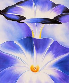 Blue Morning Glories by Georgia O'Keeffe