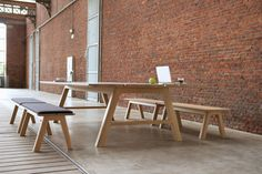 Indoor Picnic Tables for Work, Gathering, Eating or Play Photo