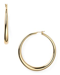 ABS by Allen Schwartz Large Round Gold Hoop Earrings Jewelry & Accessories - Jewelry - Earrings - Bloomingdale's Diamond Hoop Earrings, Silver Hoop Earrings, Diamond Studs, Ringa Linga, Gold Set, Unique Earrings, Gold Hoops, Jewelery, Jewelry Accessories