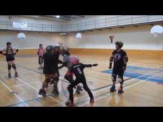 Triangle Tag game to teach blocking skills