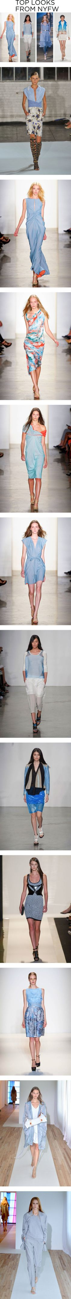 """""""NYFW Spring 2013 Trend: Sky Blue"""" by polyvore-editorial on Polyvore"""