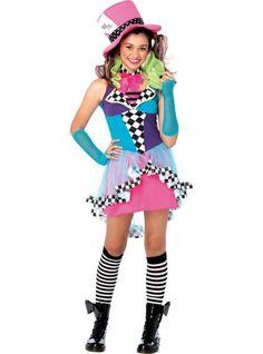 Teen Girls Mayhem Hatter Costume - Party City