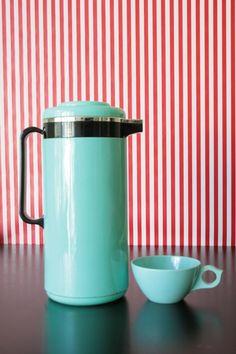 Retro Seafoam Green Coffee Carafe