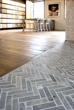 stone herringbone pattern flooring - Google Search