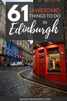Things to Do in Edinburgh, Scotland Go beyond Edinburgh Castle and Calton Hill - there are so many incredible things to do in this city. Need a few ideas? Here's a list of 61 things to do, see, and eat in Edinburgh, Scotland.Go beyond Edinburgh Castle and Scotland Vacation, Scotland Travel, Ireland Travel, Scotland Trip, Scotland Tours, Edinburgh Travel, Edinburgh Castle, England Ireland, England And Scotland