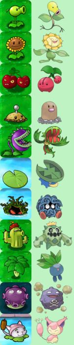 I love Plants vs Zombies but now I can pretend they are also Pokemon which makes it even more awesome!