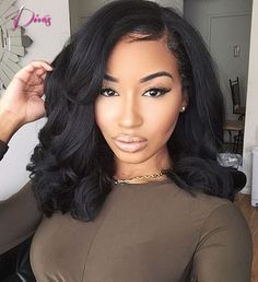 77.63$  Buy now - http://ali750.worldwells.pw/go.php?t=32369364352 - Body Wave Brazilian Virgin Hair Full Lace Wig  Shoulder Length Human Hair Wigs with Bleached Knots For Black Women
