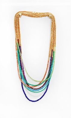 Multi strand and multi bead necklace