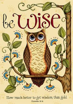 MAGNET... Be Wise Owl... Scripture Bible Verse Christian Art... Proverbs. $3.00, via Etsy.