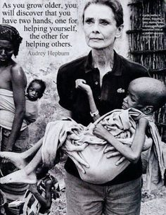 Audrey Hepburn as a young girl fought against the Nazi's in WWII, helped raise money for the Dutch resistance and hid messages in her shoes. In her later years she was an active UNICEF ambassador.