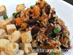 tofu with spanish rice and beans, gluten free,  Gluten Free Recipes, Gluten Free Food, Gluten Free RD