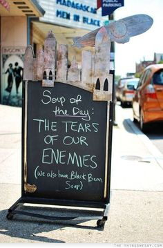Soup of the day: the tears of our enemies