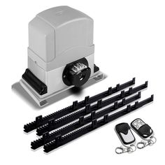 LockMaster Automatic Sliding Gate Opener with 2 Remote Controls This Motor Powered Sliding Gate Opener is the answer if you are looking for extra security and convenience for your home or business. Featuring a powerful AC Sliding Gate Motor, Electric Sliding Gates, Automatic Sliding Gate Opener, Automatic Gate, Electric Gate Opener, Gate Motors, Gate Openers, Driveway Gate, Fence