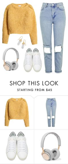 """Untitled #372"" by bubblegum59 ❤ liked on Polyvore featuring H&M, Topshop, Yves Saint Laurent, B&O Play and BillyTheTree"