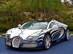 Outrageous Bugatti Veyron in one-of-a-kind chrome-like porcelain finish. Ultimate Supercar