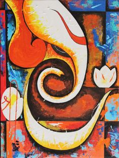 Art Smiley is a multi-sided online community which represents Artists, Art lovers and corporate houses in fulfilling their art needs. Indian Art Paintings, Canvas Paintings, Canvas Art, Lord Ganesha Paintings, Indian Gods, International Artist, Angel Art, Glass Bottle, Solar System