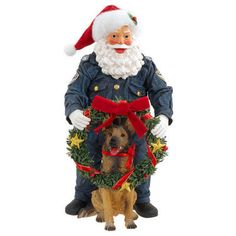 K-9 Unit Possible Dreams Santa With Dog Figure
