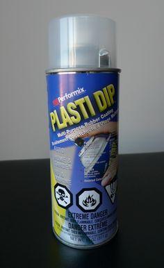 Plasti Dip: spray on knitted/crocheted slipper soles to make them non-slip.
