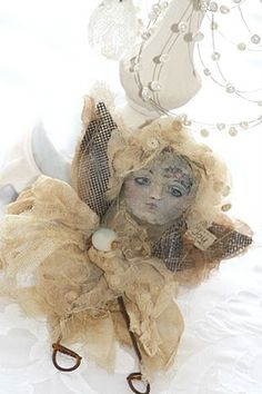 art doll- vintage with tulle - so unusual