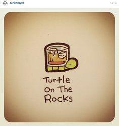 Turtle On the rocks Cute Turtle Drawings, Animal Drawings, Cool Drawings, Tiny Turtle, Turtle Love, Cute Turtles, Baby Turtles, Sheldon The Tiny Dinosaur, Kawaii Turtle