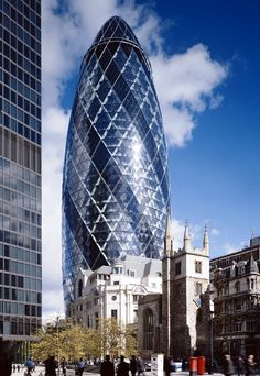 The Gerkin, London. Was just down the road and round the corner from me. For a short time this meant 'almost home'.