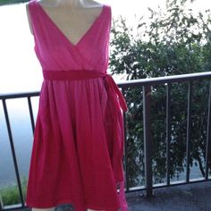 Dress by Tommy Hilfiger Size Medium, Pink, Silk Blend, Custom Dyed, Empire EUC #TommyHilfiger #Bubble