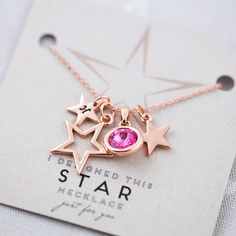 design your own personalised star necklace by j & s jewellery | notonthehighstreet.com