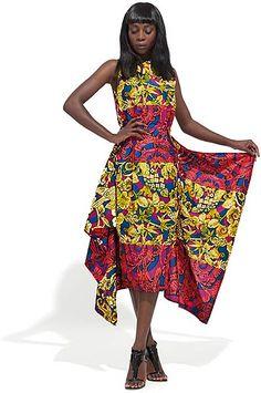 Fashion's florals are in full bloom in this feminine dress, ~African fashion, Ankara, kitenge, African women dresses, African prints, African men's fashion, Nigerian style, Ghanaian fashion ~DKK
