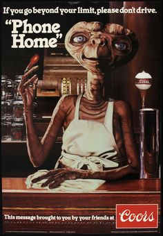 et coors poster - Google Search