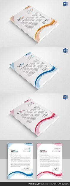 Letterhead Stationery Templates Pinterest Letterhead printing