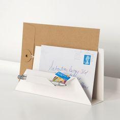 Sebastian Bergne folds metal sheet into Post Point letter holder
