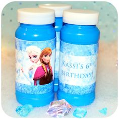Disney FROZEN Birthday Party Bubble Wrappers- Printable