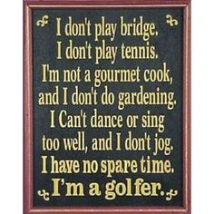 Quote Funny Golf Signs