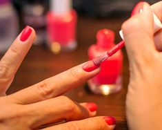 Vinegar Makes Nail Polish Last Longer. Apply  to bare nails before applying polish. Women's Health Magazine